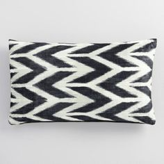 Abstract Chevron Velvet Lumbar Pillow - $29.99