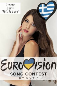"""Eurovision Song Contest Greece – """"This Is Love"""" By Demy Eurovision Greece, Eurovision 2017, This Is Love, Pop Music, Divas, Entertainment, Singer, Videos, Beauty"""