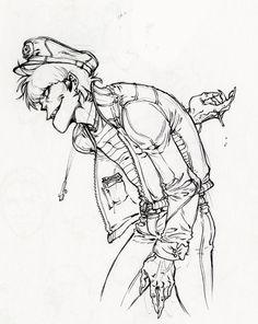 lifestyles of the broke & famous, pragmaticinsanity: More Mudz. 2d And Murdoc, Gorillaz Art, Murdoc Gorillaz, Art Puns, Monkeys Band, Russel Hobbs, Jamie Hewlett, My Escape, Manga