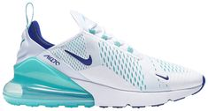 Shop Air Max 270 'Hyper Jade' - Nike on GOAT. We guarantee authenticity on every sneaker purchase or your money back. Nike Air Shoes, Crocs Shoes, Kid Shoes, Nike Air Max, Sneakers Nike, Yellow Sneakers, Nike Socks, Blue Shoes, Women's Shoes