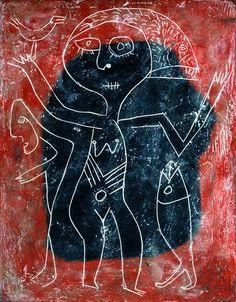 Contemporary Artists, Modern Art, Victor Brauner, Human Figure Drawing, Mc Escher, Encaustic Art, Naive Art, Outsider Art, Ancient Art