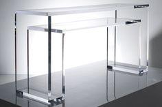 Brilliant Acrylic Console Table Sapphire
