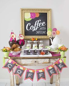 """Coffee With Mom"" Mother's Day Party Ideas 