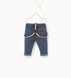 ZARA - BAMBINI - Pantaloni con bretelle