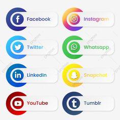 Icon Design, Flat Design Icons, Design Design, Graphic Design, Social Png, Social Icons, Facebook Logo Transparent, Logo Instagram, Retro Logos