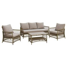 Patio Seating Set Furniture Of America, Light Gray