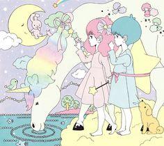 kawaii pastel fairy kei little twin stars