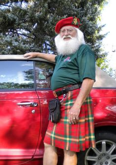 Casual Kilt Santa  Merry Christmas!