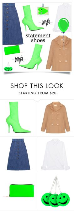 Double Take: Statement Shoes by alinepinkskirt on Polyvore featuring Victoria, Victoria Beckham, 'S MaxMara, Miu Miu, Balenciaga, Comme des Garçons, Lewis N. Clark and Orla Kiely
