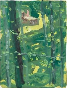 Reflection - Alex Katz , 2007. American,b.1927-oil on...