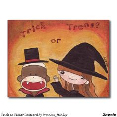 Trick or Treat? Postcard