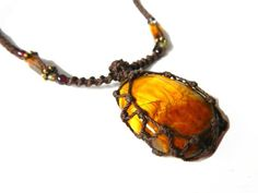 Earthy Necklace Stones   macrame Necklace- Your Stone for PROTECTION -bohemian, hippie, earthy ...