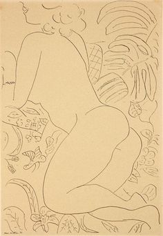 Henri Matisse - reclining nude, etching on paper