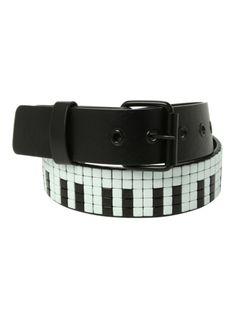 Piano Key Stud Belt | Hot Topic