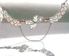 vintage lace collar necklace