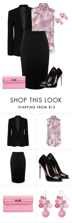 """outfit 3672"" by natalyag ❤ liked on Polyvore featuring rag & bone, The 2nd Skin Co., Alexander McQueen, Hermès and Mixit"