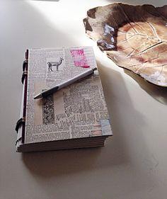 Hand Bound Art Journal or writing journal by WeaversKnotsBrushes
