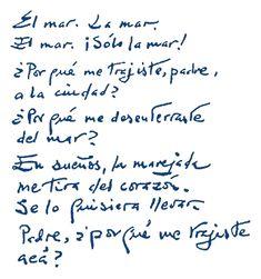 """Marinero en tierra"", Rafael Alberti (Cádiz, 1902 - 1999). Reading Quotes, Haiku, Math Equations, Education, Art, Frases, Paper, Writers, Poems"