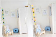 Quarto de bebê: azul e amarelo