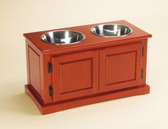 DIY Advanced Woodworking Dog Food/water Bowl Holder! This Makes The Awesome  Project List