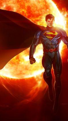 NEW SUPERMAN MAN OF STEEL SUPER MAN MOVIE RED WALL ART PRINT PREMIUM POSTER