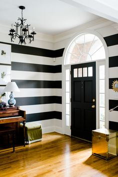 Striped foyer: http://www.stylemepretty.com/living/2015/08/08/a-pop-of-stripe-interior-decor-details/