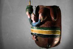 Afrikana: YORUBA gelede Maske, 57cm 650,- €