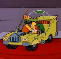 """Someone Actually Built """"The Simpsons"""" Homer Car"""