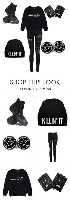 """Idec"" by somethng-different ❤ liked on Polyvore featuring Converse"