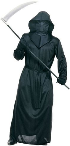 The Black Mesh Face Robe includes long black robe with straight cut sleeves and ties at the base of the neck for easier fitting, attached hood with foam trim and black netted face shroud whereby you can see out, but no-one can see in! Robe Halloween Costume, Masque Halloween, Easy Halloween Costumes For Women, Halloween Fancy Dress, Halloween Outfits, Scary Halloween, Halloween Clothes, Halloween 2020, Black Hooded Robe