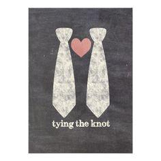 Tying the Know Chalkboard Gay Wedding