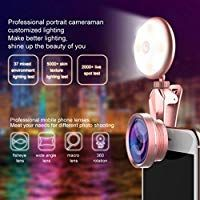 Amazon.com: Selfie Ring Light Phone Camera Lens,Rechargeable Ringing  Flashlight Front Camera