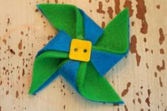 Pinwheel hair clip by sweetcabbagerose on Etsy