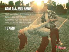 #bomdia #meuamor Bom dia, meu amor! Hoje teremos muitas coisas a fazer. E estou com muitas saudades, não vejo a hora de estar ao seu ladinho te beijando! Te amo!