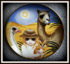 """Debbie's Desert Domain"" collectors plate ~ Margaret Keane"