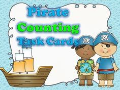 FREE Pirate Counting Task Cards - 12 FREE Pirate themed task cards that give your students a chance to show their counting skills. I have included a student response sheet to help you assess their skills.