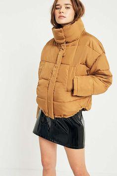 Light Before Dark Light Brown Pillow Puffer Jacket. From Urban Outfitters.
