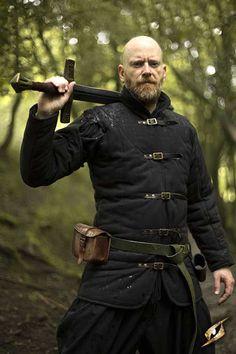 Medieval Warrior Gambeson - Black, Larp Inn- Gambeson - Epic Armoury