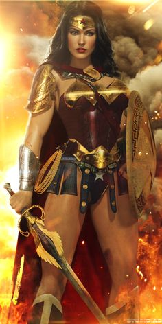 Wonder Woman Wonder Woman was the first strong, female, comic-book character. William Moulton Marston created the Wonder Woman characte. Heros Comics, Bd Comics, Comics Girls, Dc Heroes, Marvel Dc Comics, Wonder Woman Art, Wonder Woman Kunst, Wonder Women, Comic Book Characters