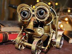Dette er robot-vokterne i Labyrint My World, Binoculars, Robot, Steampunk, Kid, Space, Display, Robotics, Child