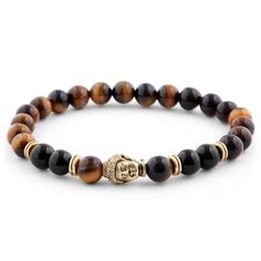 Buy Neshraw - Brown Homage to Buddha Bracelet for only Shop at Trendhim and get returns. Stone Bracelet, Pearl Bracelet, Cheap Bracelets, Bracelets For Men, Jewelry For Men, Bracelet Cuir, Bracelet Set, Paracord Bracelets, Diy Jewelry Making
