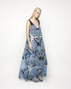 House Of Cannon - Launching Los Angeles - SS17/18 V Neck Maxi Dress in Air Traffic Control print