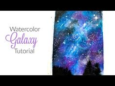 YouTube demonstration if how to watercolor the night sky. 1. Paint water over your sheet. 2. Add blues, purples and reds by dripping droppings on the sheet. Spread them with the paint perish and work them in. Do about 5 layers or so. 3. Work in some black, mostly around the edges. 4. The stars are a bit tricky, but flick your white loaded brush, so it splatters stars everywhere. Smear some in to give texture and depth. Add more to concentrated dots in the black parts of the sky. And also…