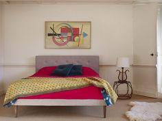 Laslo Kingsize bed in Heat & Dust, Geschuurd Linnen/Katoen