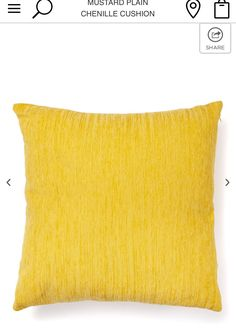 Lounge mustard cushion