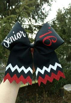 Senior cheer bow PICK COLORS /WORDING class of by CraftyOhBows