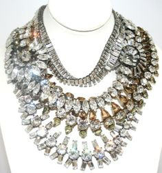 Iradj Moini Necklace | Iradj Moini Necklace - Crystal, citrines and topaz stones. Signed.