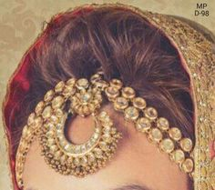 kundan mathapatt i#Indian jewellery# Punjabi bride#kundan earings