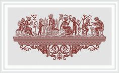 Cross stitch pattern PDF Instant download Greece seasons