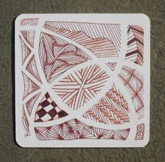 Sue's tangle trips: Sepia and my template collection
